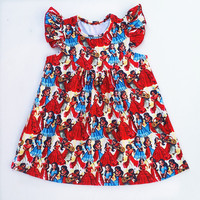 Wholesale Children S Summer Boutique Princess Dress Girls Red Milk Silk Pearl Dress