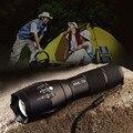 Led linterna t6 2000lm 5 modo de zoom de enfoque ajustable linterna para la caza que acampa impermeable luz de la antorcha por la aaa/18650 batería