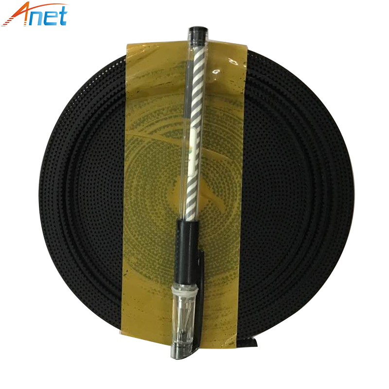 100 Meters 2GT-6mm Synchronous Opening Belts Open Timing Belt Rubber PU Width 6mm For RepRap 3D Printer Parts Black