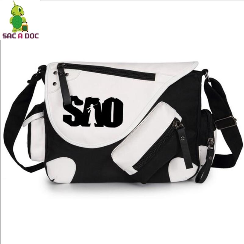Anime Sword Art Online Cosplay Messenger Bags SAO Kirito Crossbody Bag Boys Girls School Bag Travel Bags