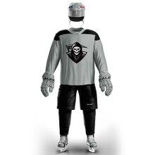 Han Duck винтажные хоккейные тренировочные майки набор с принтом пиратского логотипа пятно дешевые высокое качество H6100-17