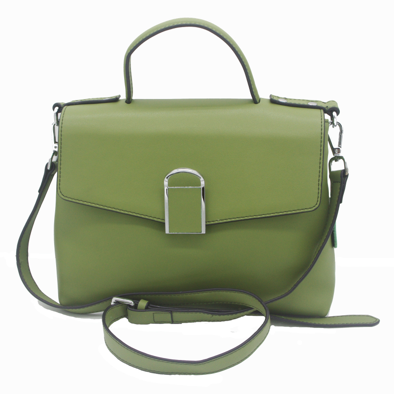 Kajie Brand New Design Genuine Leather Shoulder Bag Female Fashion Solid Color Handbags Women Casual Tote Bag Green/black new genuine leather women handbag brand fashion summer design women s messenger shoulder bag tassel solid color casual tote 2017