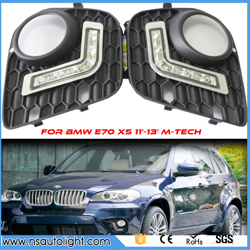 Une paire LED DRL pour BMW E70 X5 11'-13' M-TECH feux de jour