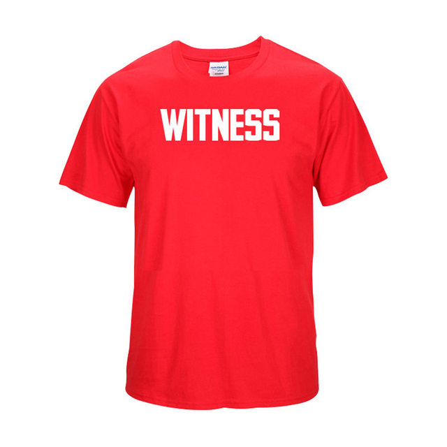 Lebron James Witness T-shirts New Fashion Short Sleeve O-neck Cotton T Shirt  Casual Black White Red Yellow Tops Loose Letter Tee 4a5e3e753a84