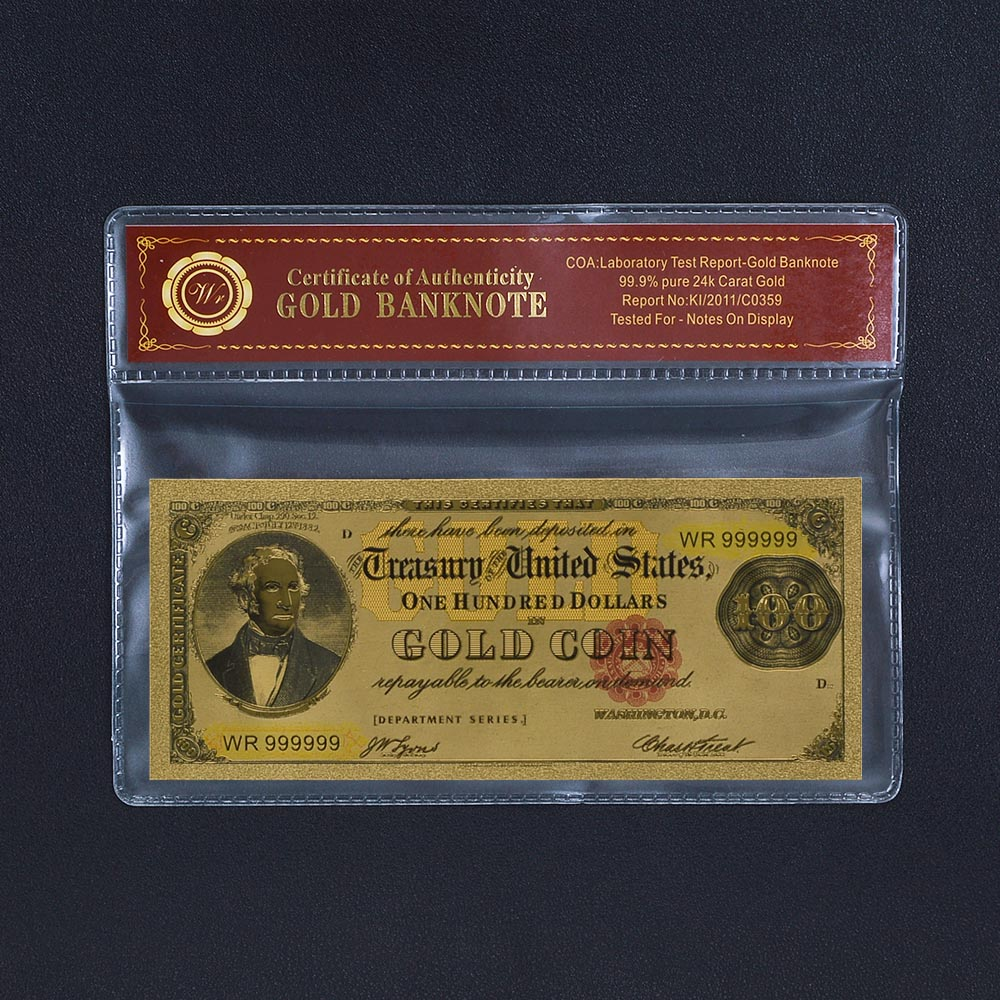 US $1 7 20% OFF|Unite of State $1000 Us Gold Banknotes World Paper Money  Banknotes USA Dollars Gold Foil Bill Currency Collections Gift-in Gold