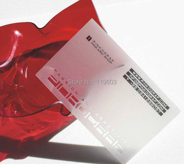 2014 NEW Design transparent business card DHL Free Fast Shipping ...