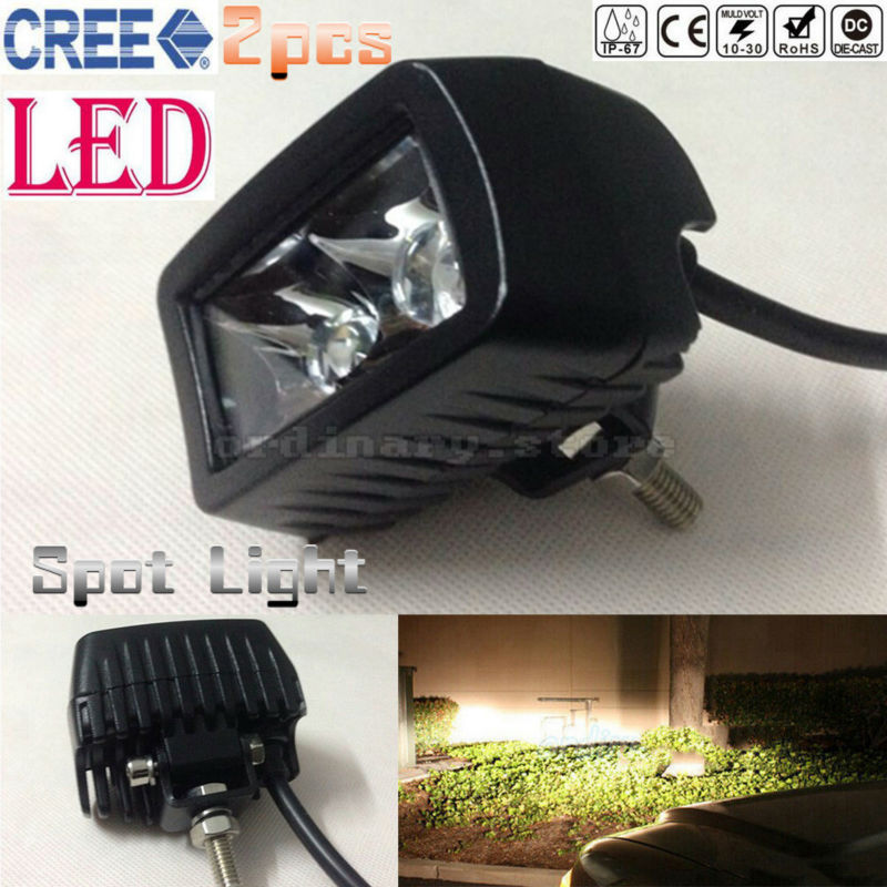 2pcs Super Bright Waterproof Car 4WD Truck Offroad SUV ATV Boat Bar LED Work Light Headlight Driving Fog Spot Night Safety Lamp new 7inch 4d cree 60w round led work light 12v super bright 12x5w waterproof for suv jeep 4x4 offroad atv truck driving fog lamp