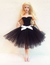 Luxury New 100 Handmade Princess Bubble Skirt Black Evening Party Wedding Dress Lace Outfit Clothes Gown