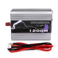1200W 1200WATT Car 12V DC In to 220V AC Out Pure Sine Wave 1.2KW Power Inverter Car Converter