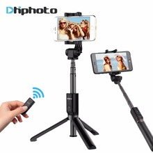 Ulanzi 3 in 1 Selfie Stick Tripod w 360 Degree Rotation Phone Clip Mount and Bluetooth Remote for iPhone 8 Meizu XiaoMi 6 HuaWei(China)