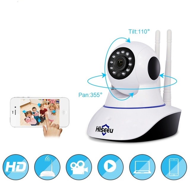 Hiseeu Wifi IP Camera 1080P Home Security Audio Record SD Card Memory CCTV  Surveillance Wireless Baby Monitor mEYE Camera
