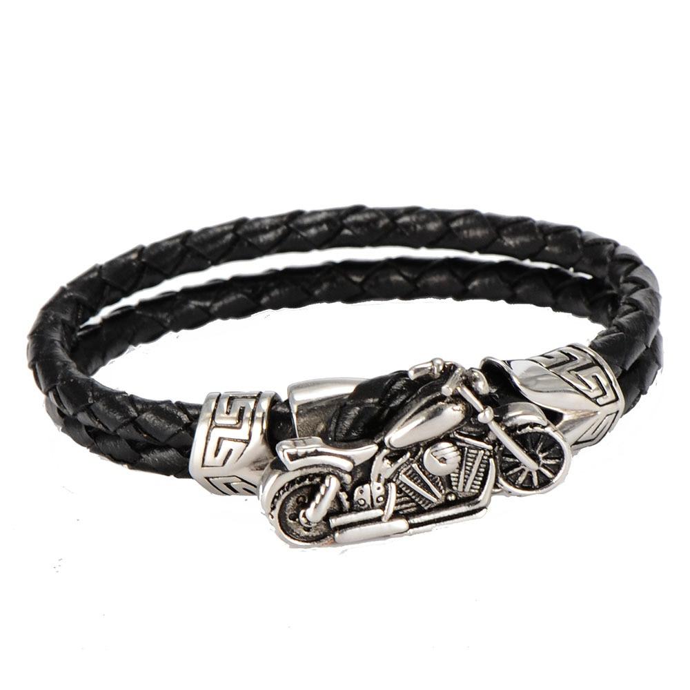 bracelet cuir moto