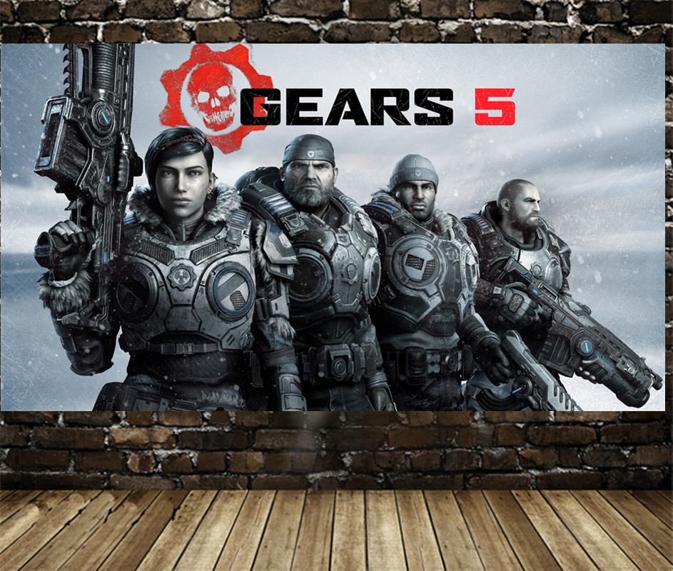 Gears 5 Game Poster Anime Canvas Decorative Paintingcanvas Decorative Painting Wall Stickers Home Decoration Supplies posters