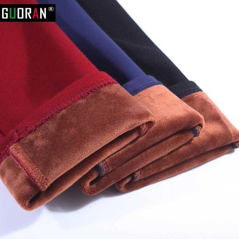 S-6XL winter warm 2018 hoge elastische taille casual stretch mager - Dameskleding - Foto 3