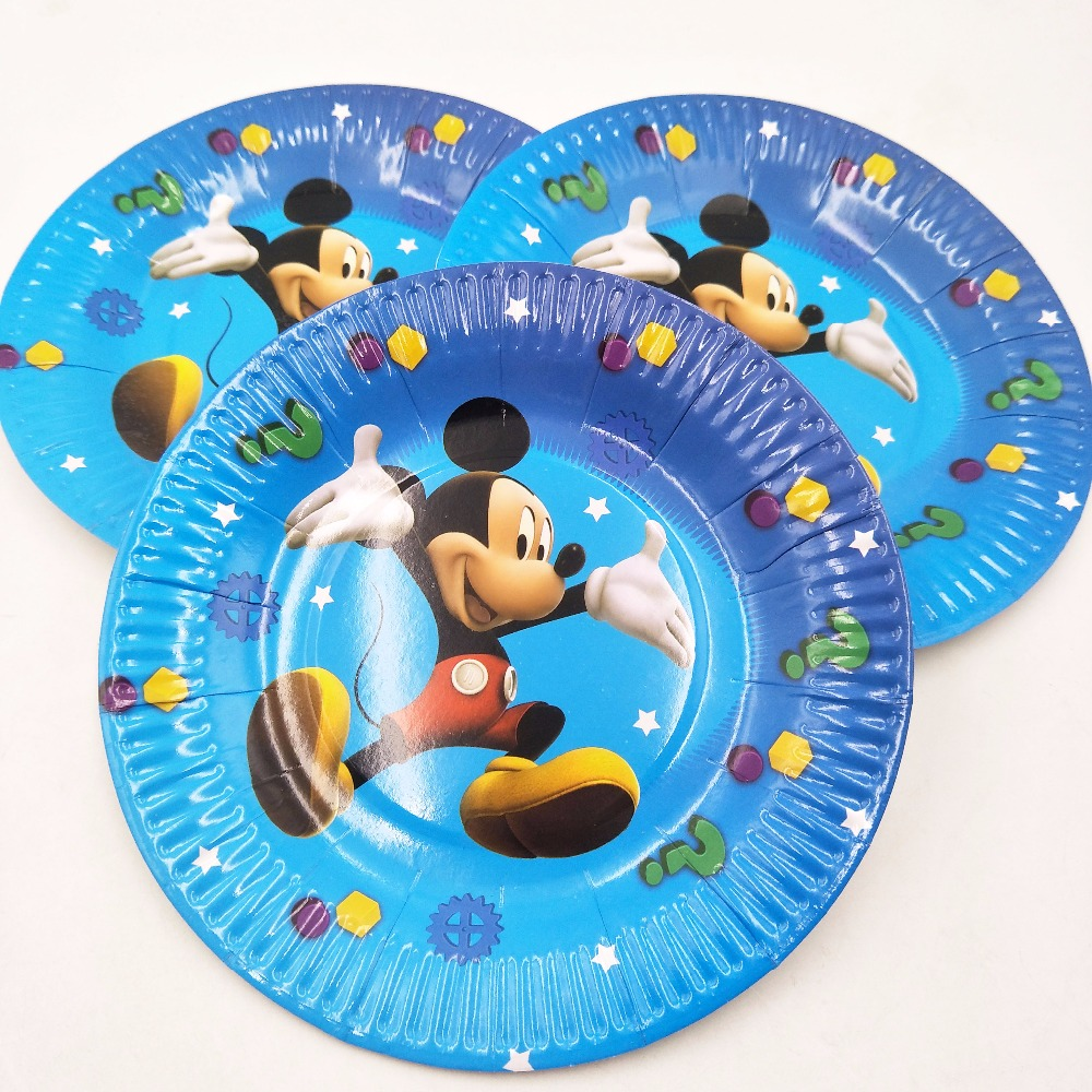 10pc mickey mouse birthday party supplies Plates For Kids Favors mickey mouse party supplies for kids birthday clubhouse-in Disposable Party Tableware from ...  sc 1 st  AliExpress.com & 10pc mickey mouse birthday party supplies Plates For Kids Favors ...