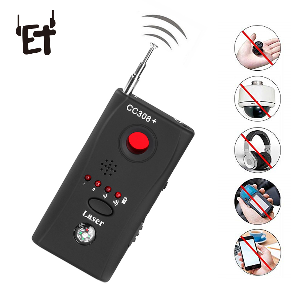 ET Anti Spy Bug Detector CC308 Full Range Mini Wireless Camera Hidden Signal GSM Device Finder Privacy Protect Security Monitor
