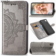 For Huawei Y5 2019 Case Flip Wallet Soft Silicone Rubber Card Holder Fundas Back Cover