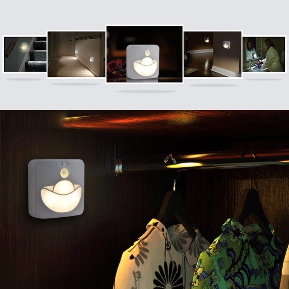 Lightinbox LED Battery Powered Motion Sensor Indoor Wall Step Lights LED Stick Anywhere Nightlight
