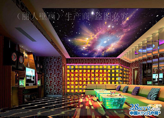 Purple Style Star Starry Night Sky Space Wallpaper 3D Mural Roll Hotel Restaurant Living Room Cafe