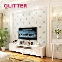 European Luxury Living Room Non Woven Wallpaper Tv Background Wallpaper 3d Embossed Modern Minimalist Bedroom Wallpaper