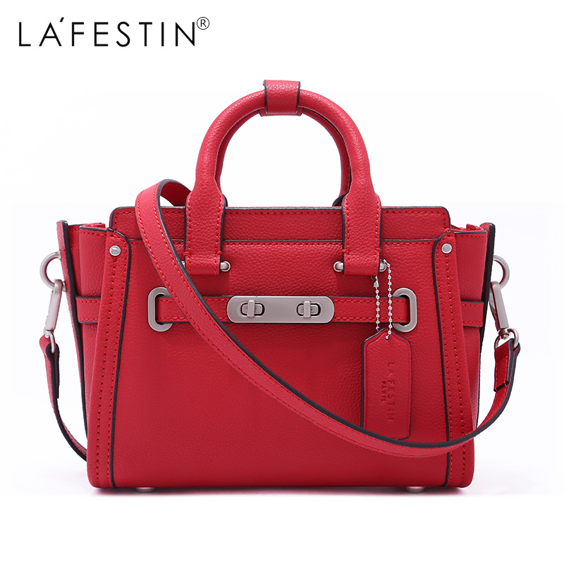 LAFESTIN Luxury Trapeze Real Leather Handbags Women bags Designer Shoulder Crossbody Totes Multifunction Famous brands Bag bolsa lafestin luxury shoulder women handbag genuine leather bag 2017 fashion designer totes bags brands women bag bolsa female