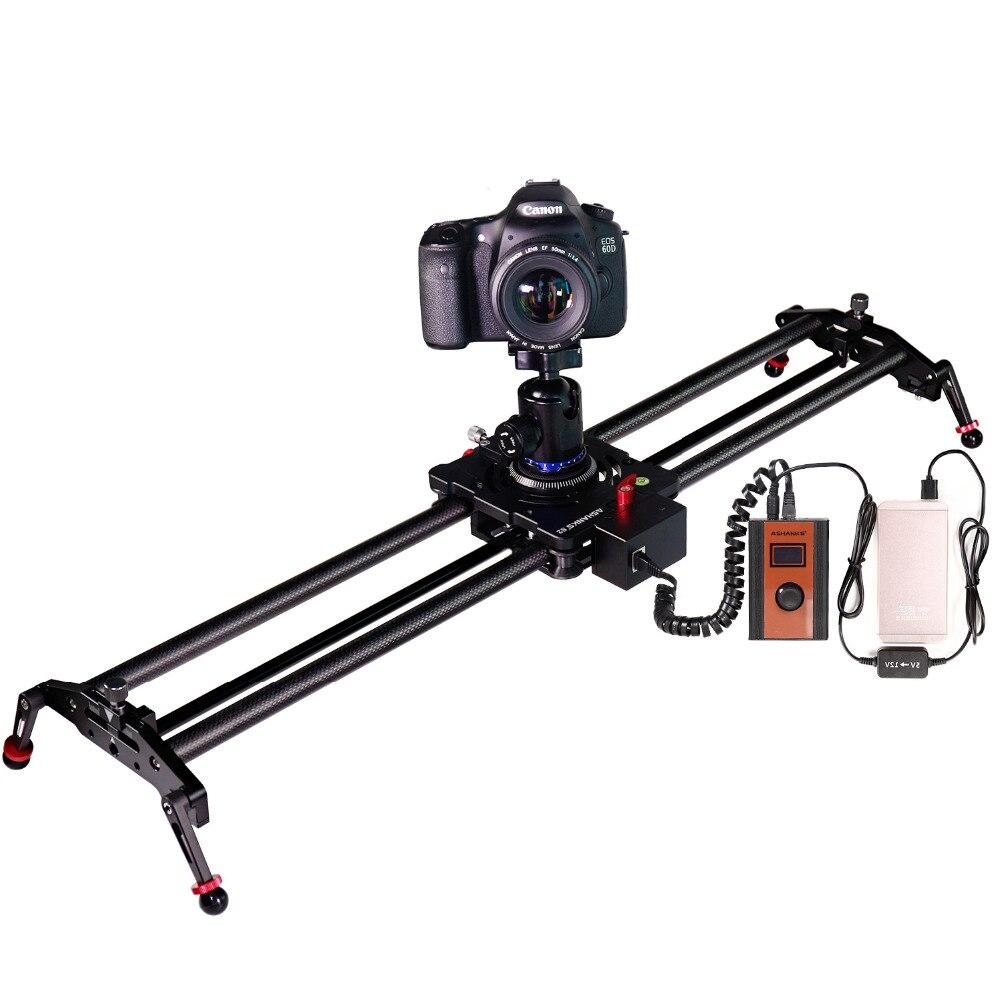 ASHANKS Stepper Motor Motorizada Timelapse Deslizante Câmera de Vídeo DSLR Follow Focus Rail Slide de Carbono para Controle Elétrico Youtuber