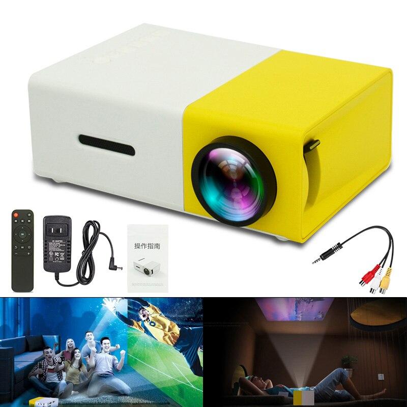 YG300 Универсальный 60 дюймов HD портативный мини светодиодный карманный проектор без батареи домашний кинотеатр Детский обучающий проектор
