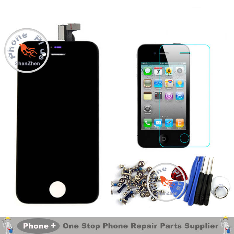 NO Dead Pixel A+ Quality For Apple iPhone 4 4G LCD Display Touch Screen Digitizer Assembly+Tempered Glass +Tools+Full Screws