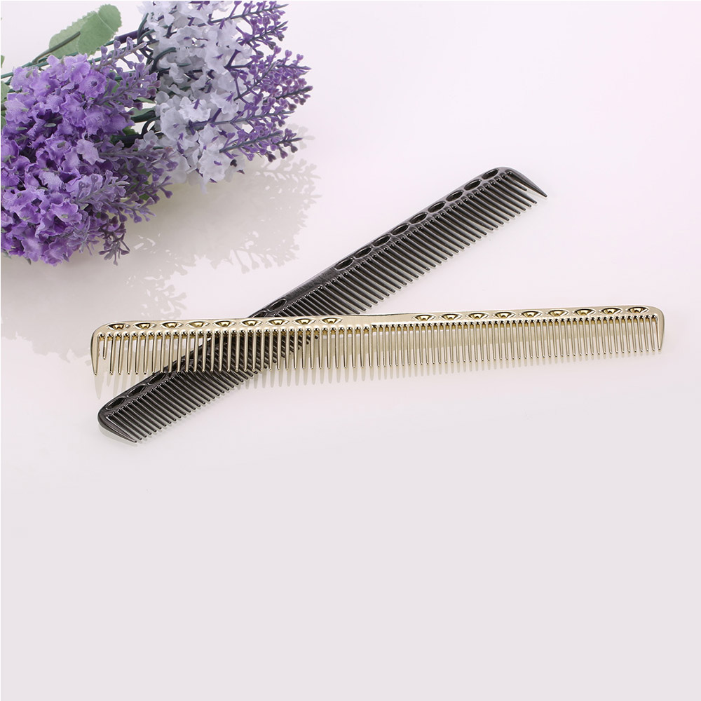 2 In 1 Hairbrush Aluminum Hair Comb Salon Hairdresser Comb Women Man Makeup Hair Cutting Combs Hair Care Styling Brush Tools