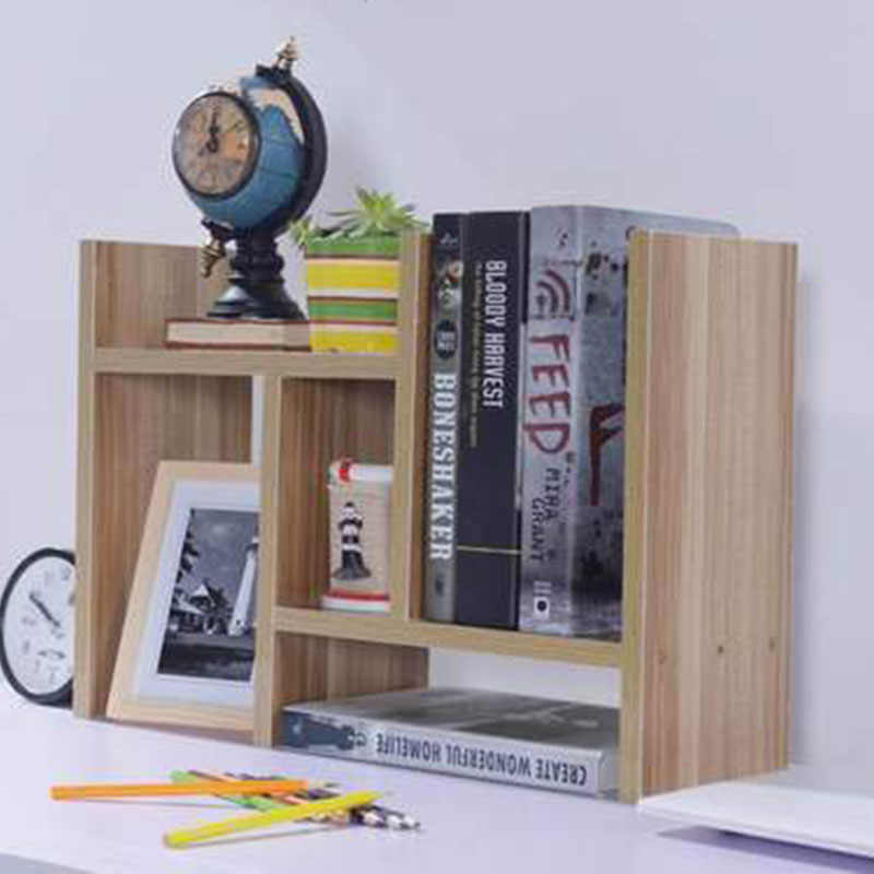 DIY Multi-purpose Desktop Book Shelf Retractable Bookcase Children Student Mini Bookshelf Simple Desktop Storage Rack