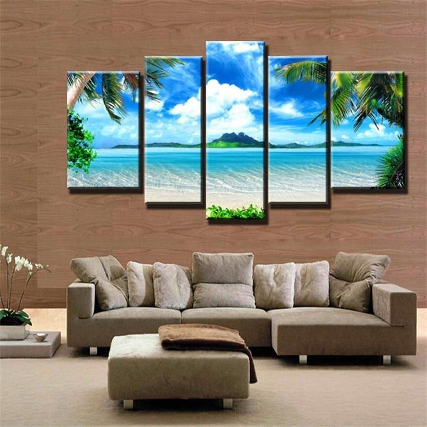 5 paneles pinturas para la cocina azul mar playa for Cocina pintura pato azul