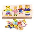 Когнитивные Деревянные Медведь Головоломки Ранние Развивающие Игрушки Головоломки Для Детей
