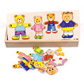 Cognitive Wooden Bear Puzzle Early Educational Jigsaw Puzzle Toys For Kids