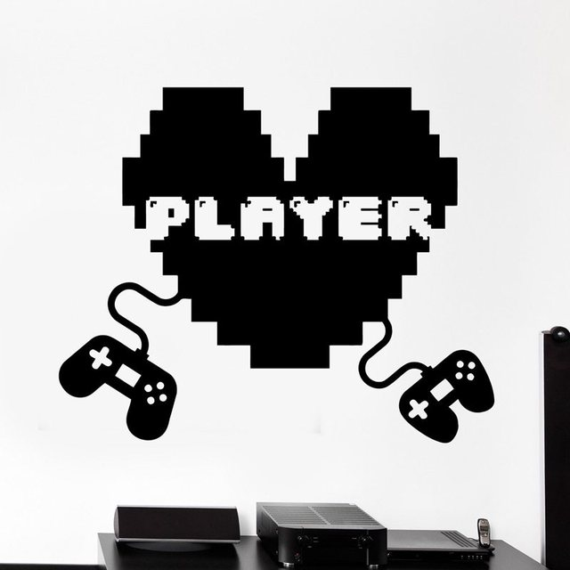 Gamer Video Game Sticker Decal Gaming Posters Vinyl Wall Decals Decor