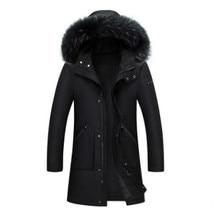 2017 Moda de Nueva invierno hombre alta calidad Abrigos de plumas chaqueta casual largo con capucha caliente pato Abrigos de plumas Parkas chaqueta Outwear