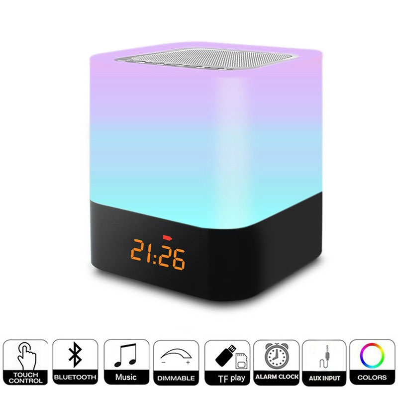 Wireless Stereo Speaker Subwoofer Bass Speaker Super Bass Sound Box LED Light Lamp Wireless Multifunction plan
