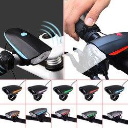 Nowy rower elektryczny róg jasny rower reflektory wokal USB ładowania noc jazda na rowerze światła 130/140 Decibel Bell 88