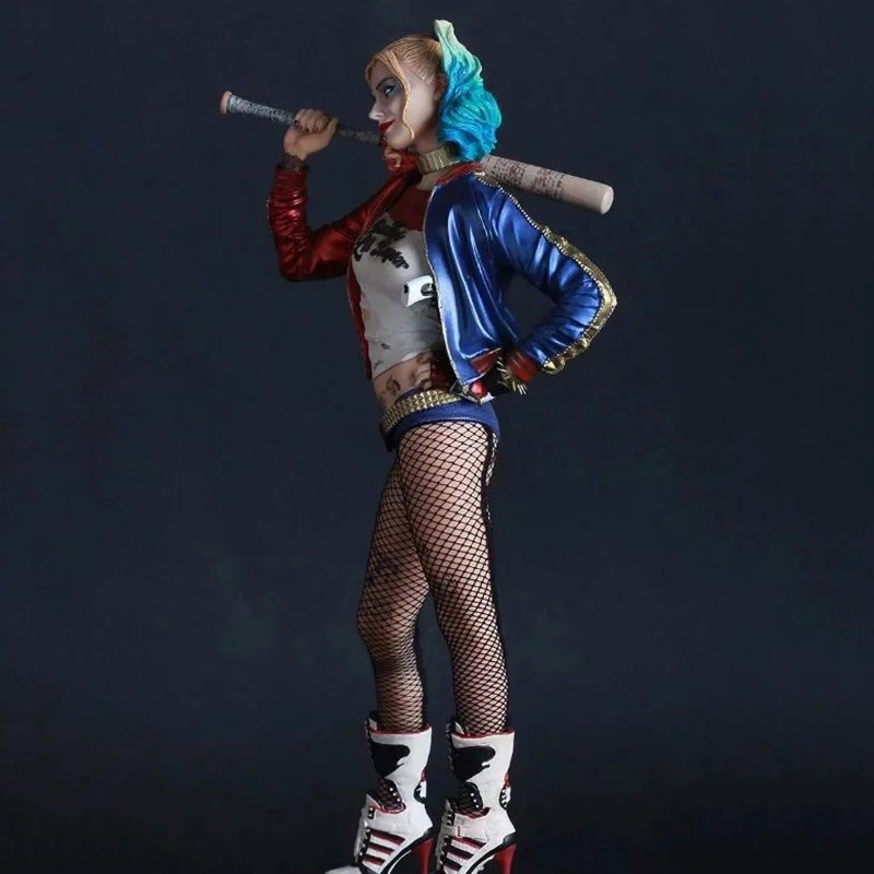 Crazy Toys Suicide Squad Harley Quinn Action Figure and Harley Quinn Keychain Doll Anime Collectible Model Toy 26cm In Boxed (6)