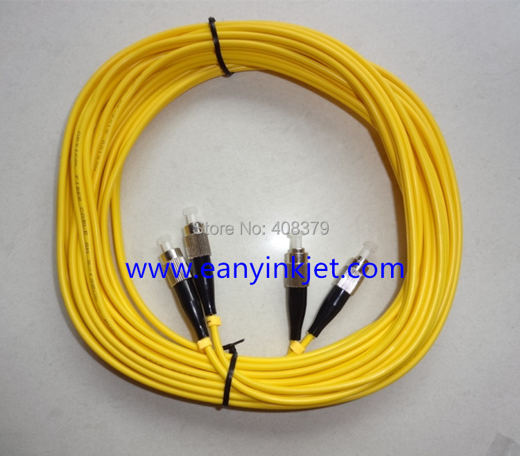 6 meters Double Heads Fiber optical cable for Galaxy Phaeton Infiniti Gongzheng Solvent Printer Printhead Mainboard