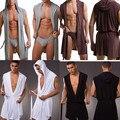 1 pcs Alta Qualidade homens robes roupão de banho plus size robe Manview para man mens sexy sleepwear kimono masculino sleepwear seda