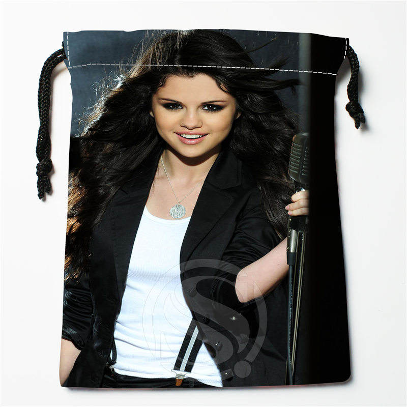 J&w112 New Selena Gomez &u Custom Printed  Receive Bag Compression Type Drawstring Bags Size 18X22cm W725&112zDW