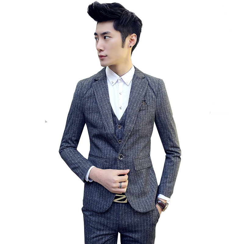 2018 New Men Suits One-Buckle Brand Suits Jacket Formal Dress Men Suit Set Men Wedding Suits Groom Tuxedos