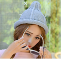 Free Shipping 2015 New Fashion Winter Plain Color Pointy Beanies Hats For Women Girls 6 Colors
