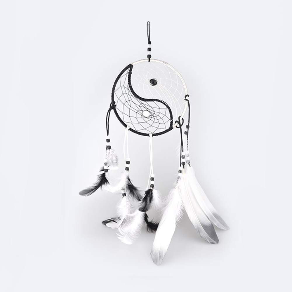 Beautiful Dream Catcher handmade Rattan Dreamcatcher with Net With natural stone feathers for home wall decorations P20