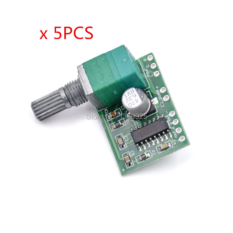 Free Shipping 5pcs/lot PAM8403 Mini 5V Digital Small Power Amplifier Board (USB Supply)