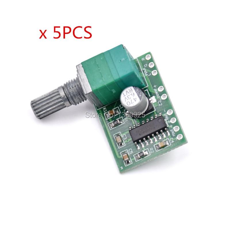Free shipping 5pcs/lot PAM8403 Mini 5V Digital Small Power Amplifier Board (USB supply)