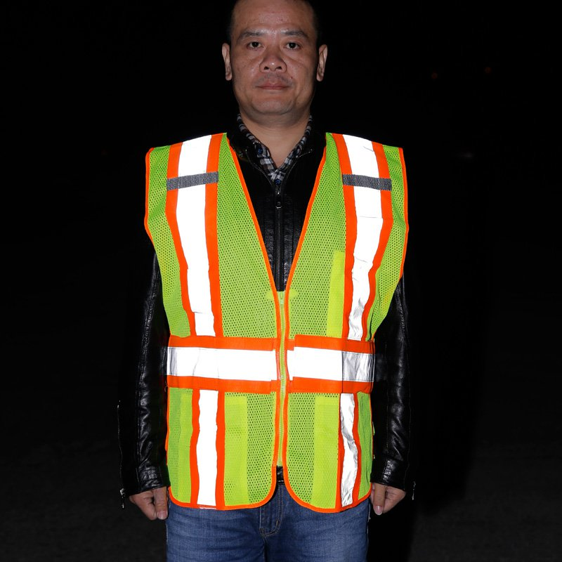 Reflective safety vest breathable mesh vest fluorescent reflective cloth collision color high Highways Construction