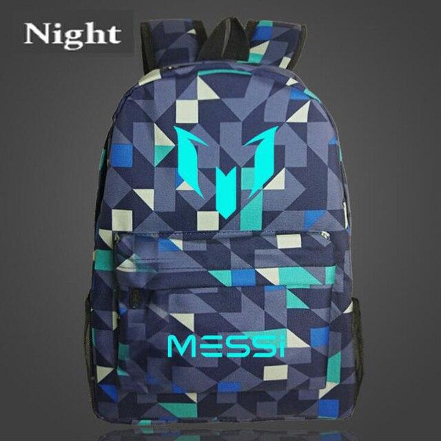 Teenagers School Bags For Boys Messi Teen Bookbag Backpack Men Back Pack Male Bag Kids Gift