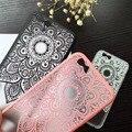 Clásico cordón mandala flor cajas del teléfono para el caso de apple iphone 6 para iphone6 6 S Plus Cubierta Sexy Hermosa Datura Floral Capa NUEVA!