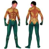 Movie Aquaman Cosplay Costume Superhero Arthur Curry Orin Zentai Bodysuit Suit Jumpsuits